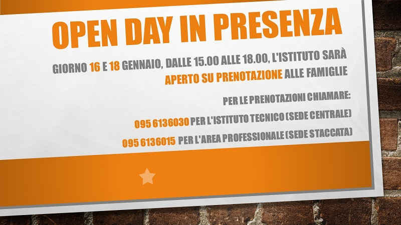 Open day in presenza